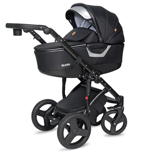 Kočík Coto Baby 2 v 1 QUARA Eco - čierny