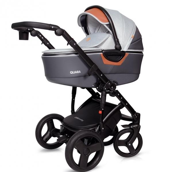 Kočík Coto Baby 2 v 1 QUARA Eco - sv. šedá
