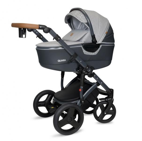 Kočík Coto Baby 2 v 1 QUARA Eco - šedá/grafit