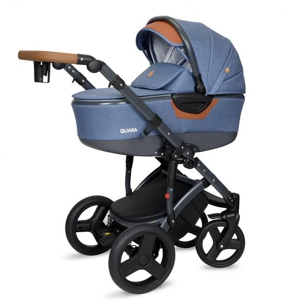 Kočík Coto Baby 2 v 1 QUARA Eco - Jeans/grafit