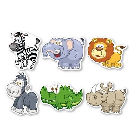 Puzzle veľké zvieratá z džungle