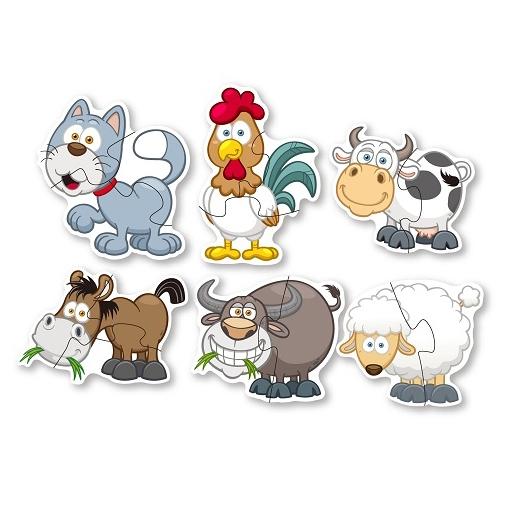 Puzzle veľké zvieratá domáce