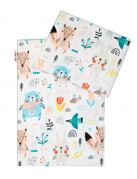 Baby Nellys Bavlnené obliečky - Forest girl, roz. 135x100 cm