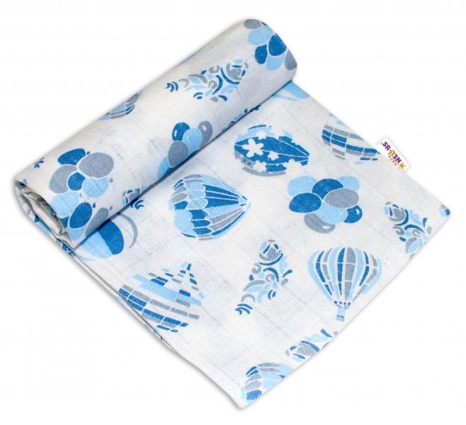 Baby Nellys Kvalitná bavlnená plienka - Tetra Premium, 70x80cm - Balóny