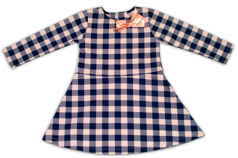 K-Baby Detské šatôčky Karko - granát/sv. ružová, veľ. 110-110