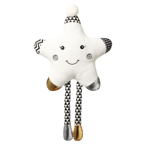 BabyOno Plyšová hračka Smiling Star - biela