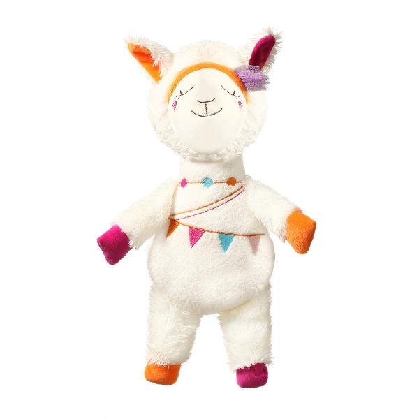 BabyOno Plyšová hračka s hrkálkou - Lama Rita