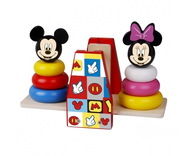 Drevená balančná hra Disney, Mickey a Minnie
