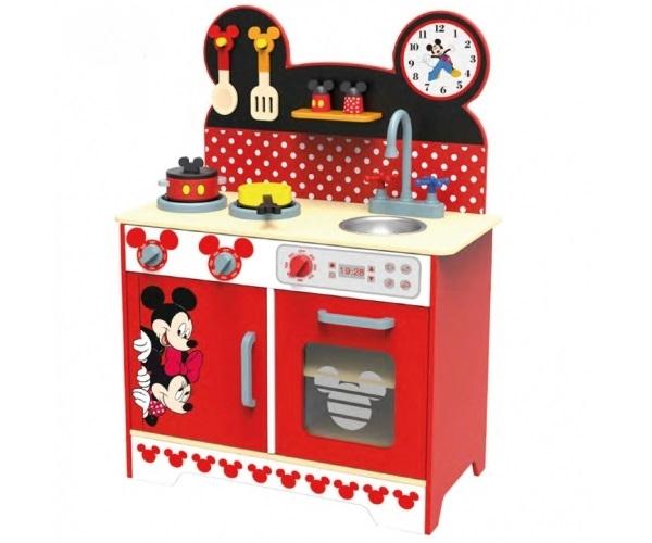 Drevená kuchyňka Disney, Mickey a Minnie, 60 x 30 x 85 cm