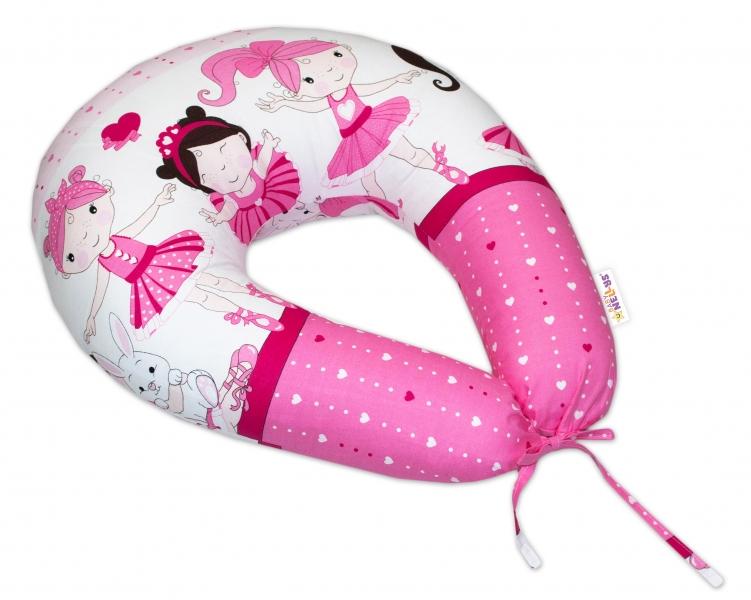 Bavlnený dojčiaci vankúš Baby Nellys, Princess ružový