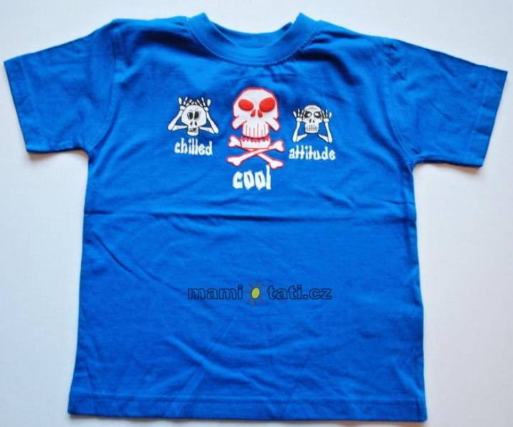 Dovoz EU Bavlnené tričko pre chlapcov - Lebky