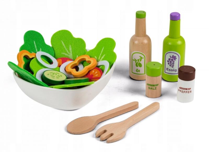 Drevená hračka - Sada na prípravu šalátu Eco Toys
