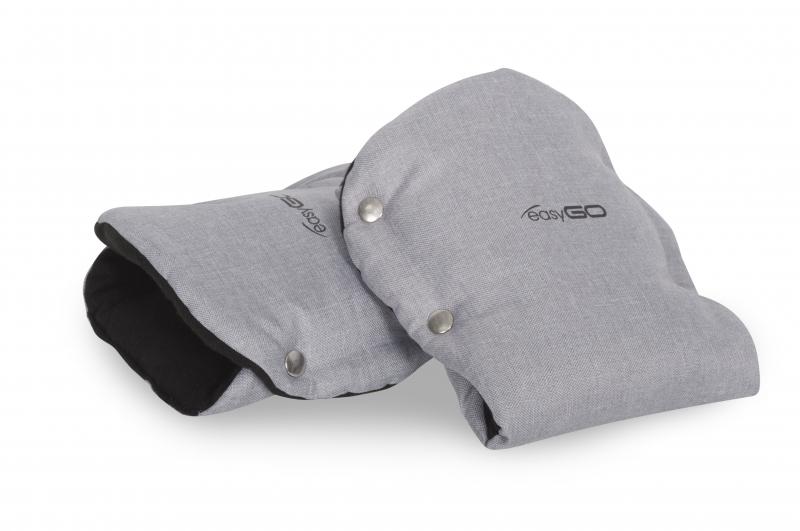 EasyGo Rukávnik ku kočíku flees - Grey Fox