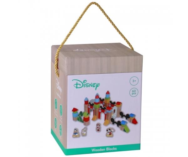 Drevené kocky Disney 60 ks veľké, Mickeyho hrad