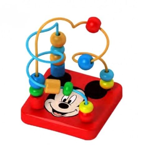Drevený interaktívny Disney labyrint, Mickey, 9x12 c