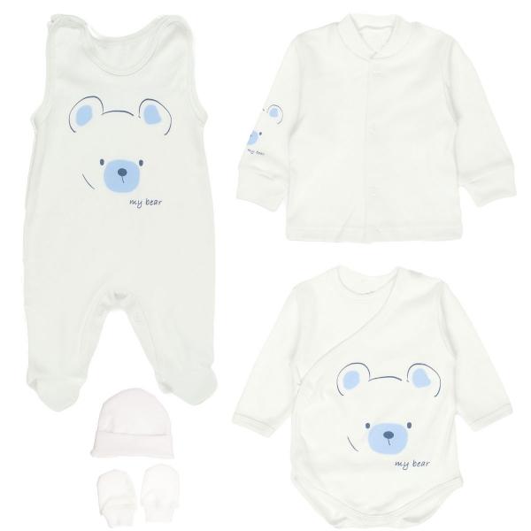 MBaby Súpravička do pôrodnice 5D - My Bear - biela