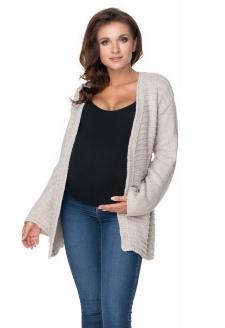 Tehotenský sveter / kardigan - béžový