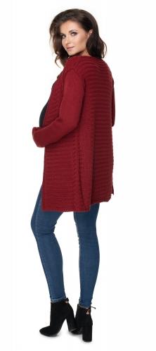Tehotenský sveter / kardigan - bordó