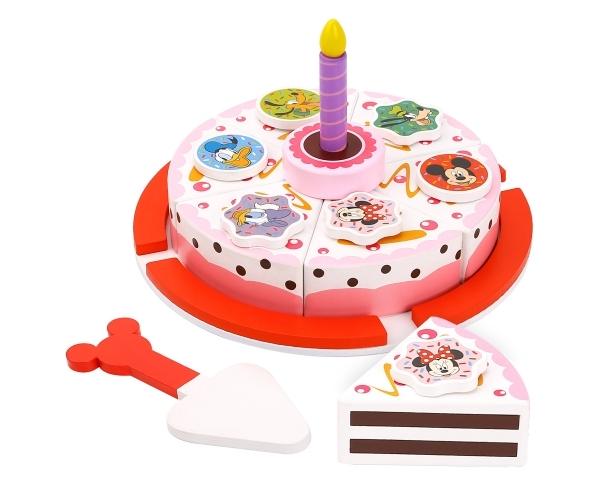 Drevený Disney krájací tort Minnie a priatelia
