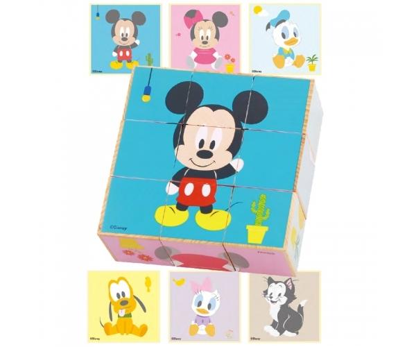 Drevené obrázkové kocky Disney, Mickey a priatelia, 23 x 20 cm