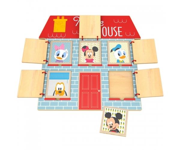 Zábavná drevená hra Disney - trénujeme pamät s Mickeym, 29 x 30 cm