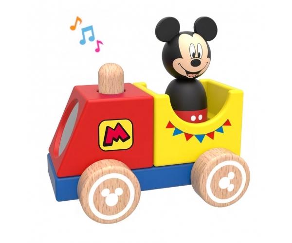 Drevený Disney vláčik s Mickeym, 12x8x12 cm
