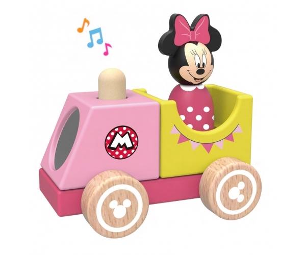 Drevený Disney vláčik s Minnie, 12x8x12 cm