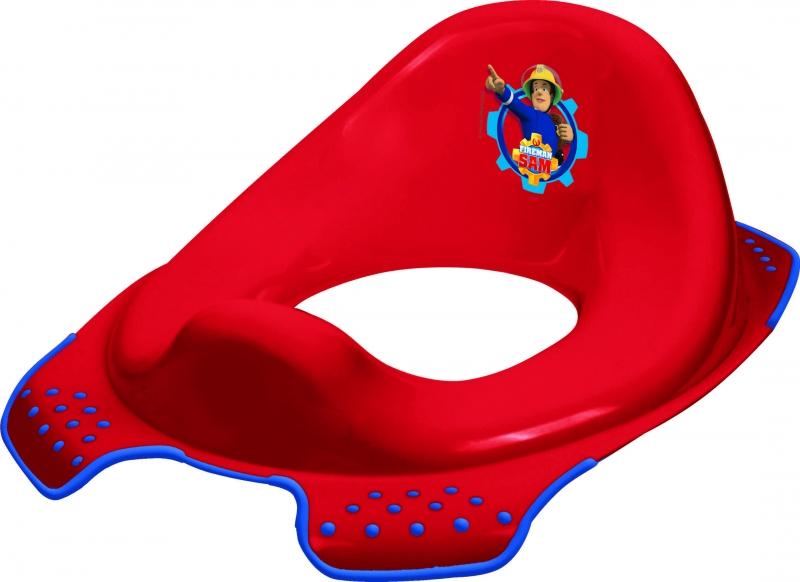 Keeeper Adaptér - tréningové sedádko na toaletu Fireman Sam - červený