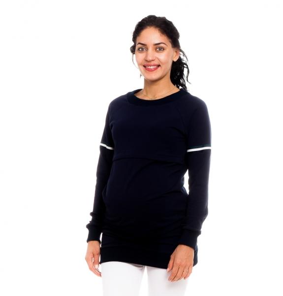 Be Maamaa Tehotenské, dojčiace tričko/mikina Lynet, granátová, veľ. XL