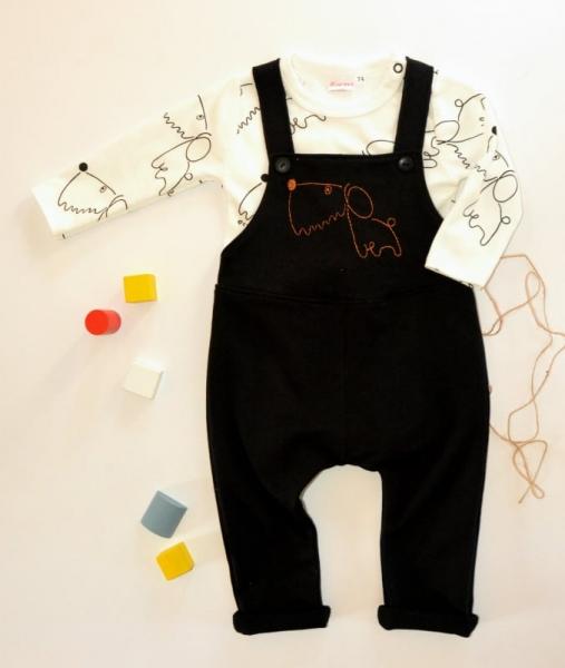 K-Baby Sada 1 x body dl. rukáv + 1 x tepláčky na traky