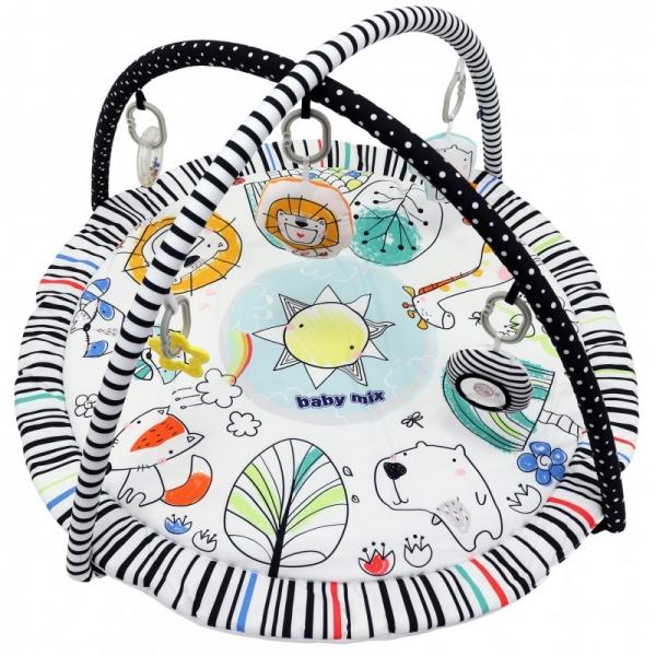BABY MIX Vzdelávacia hracia deka - Paradise