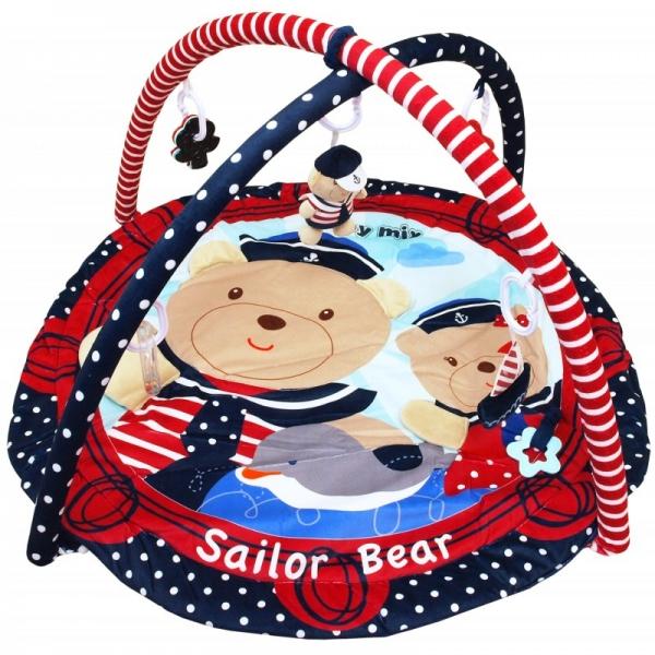 BABY MIX Vzdelávacia hracia deka - Sailor Bear