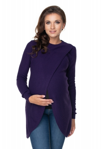 Be Maamaa Tehotenský, dojčiacy svetrík so stojačikom - fialový