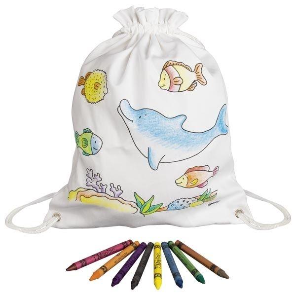 Goki Detský bavlnený vrecúško k vyfarbeniu - Morský svet
