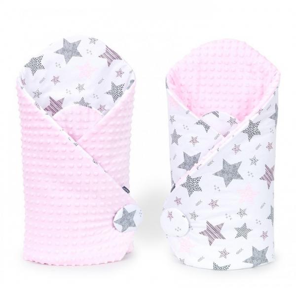 Mamo Tato Obojstranná zavinovačka Minky Baby - Starmix, ružová