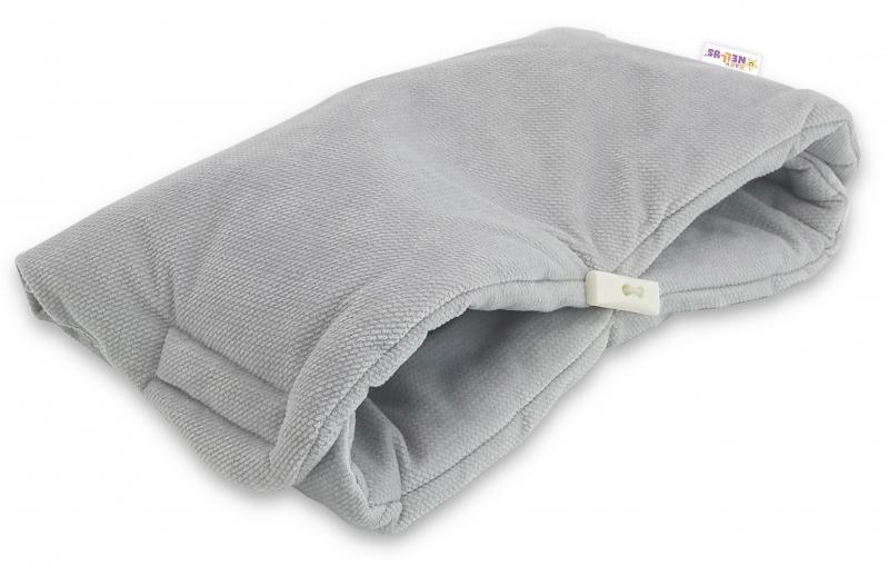 Luxusný rukávnik Velvet Baby Nellys, 40 x 20cm - šedá