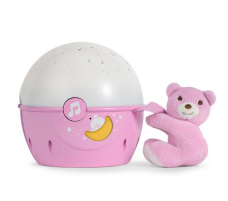 Chicco  Projektor s melódiou Next 2 Stars - Medvedík ružový