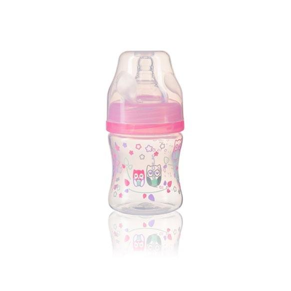 BabyOno Antikoliková fľaštička so širokým hrdlom BabyOno - ružová