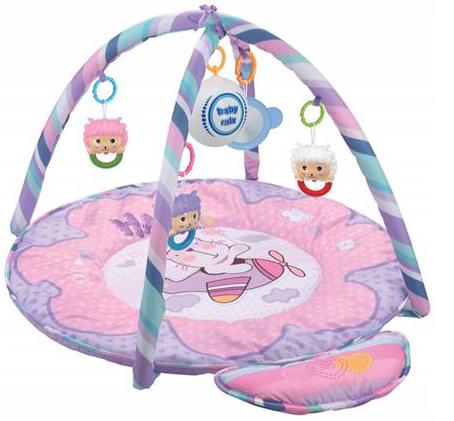 BABY MIX Vzdelávacia hracia deka - Macko ružový