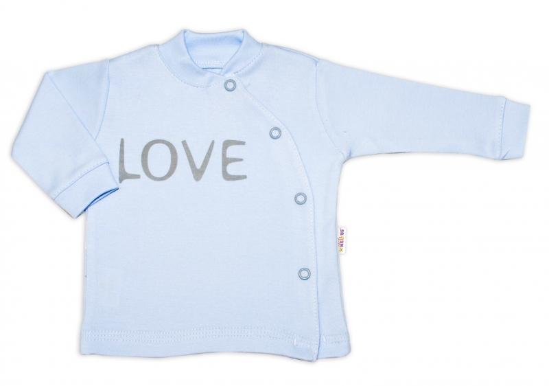 Baby Nellys Bavlnená košieľka Love zapínanie bokom - biela, veľ. 62-#Velikost koj. oblečení;62 (2-3m)