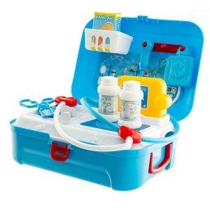 Euro Baby Lekárska sada v plastovom kufríku - modrá