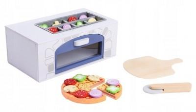 Eco Toys Drevená pizza pec + kuchynské doplnky