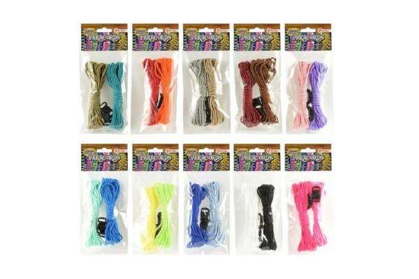 Vyrob si vlastný náramok parašňura + pracky povrázky asst 10 farieb v sáčku
