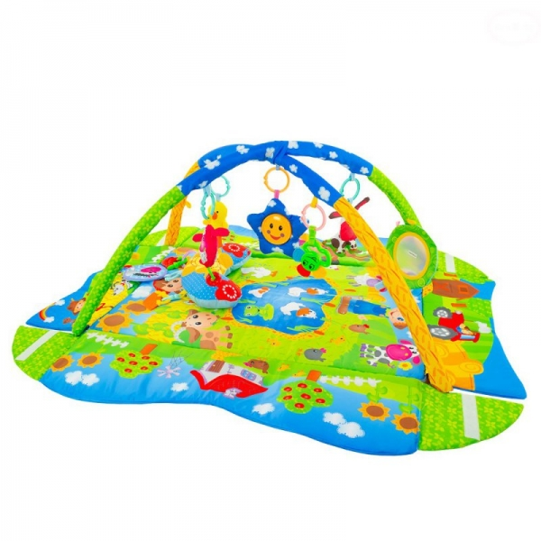 Vzdelávacia hracia deka Euro babyTulimi Farma 3 v 1 s vankúšom
