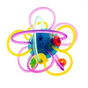 Euro Baby Edukačná hračka - hrkálka - prepletená loptička - modrá