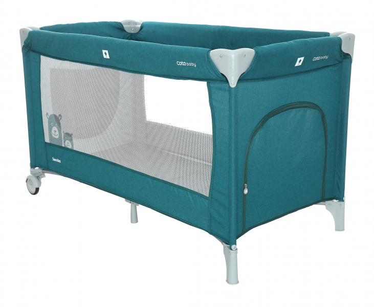 Coto Baby Cestovná postieľka Samba - Turquoise / Melange