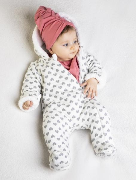 Dojčenská čiapka Nicol Forest - biela