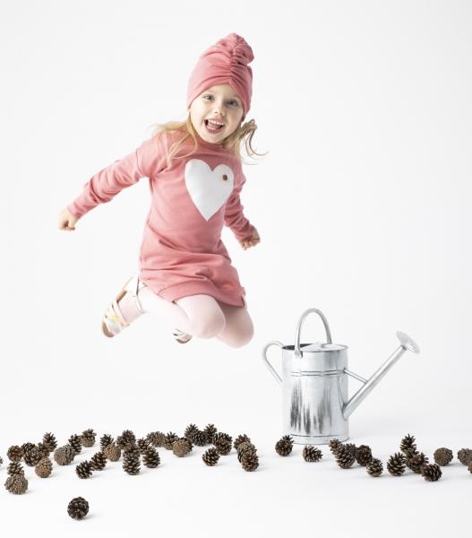 Detské šaty Nicol, Forest - růžové, veľ. 110
