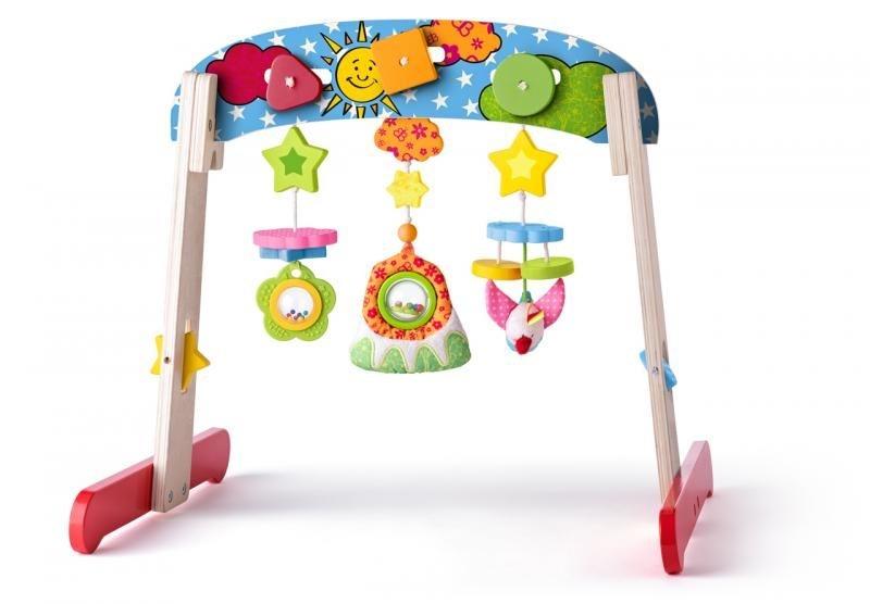 Niny Drevená hrazdička s hračkami
