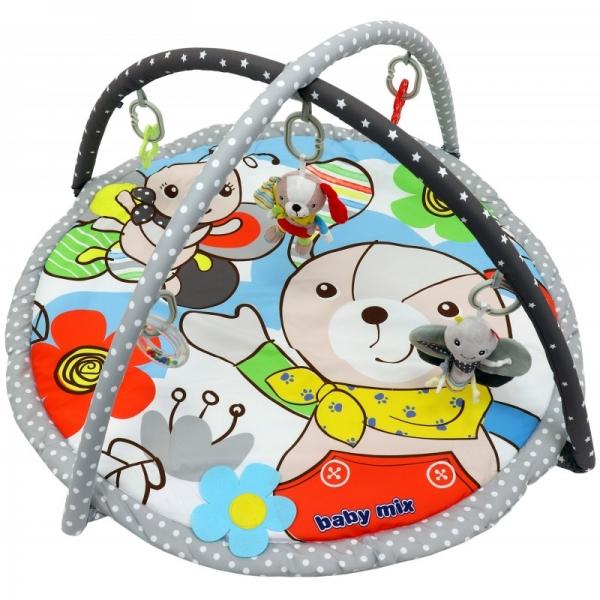 BABY MIX Vzdelávacia hracia deka - Psík a motýľ